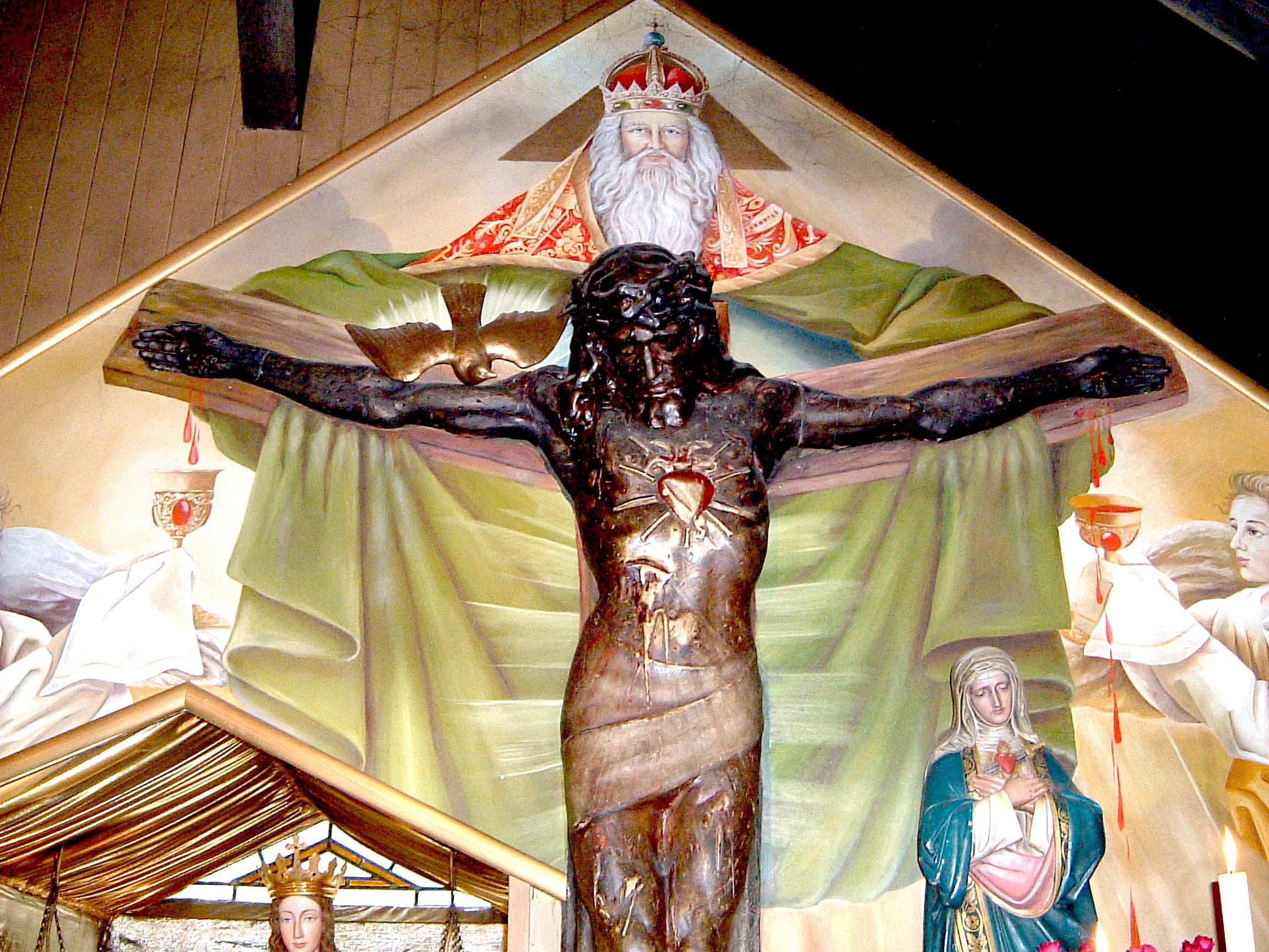 Heilige, die für Heilung beten
